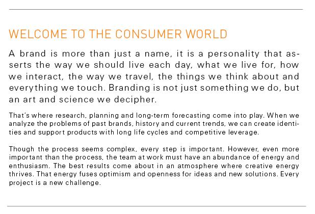 a consumer world