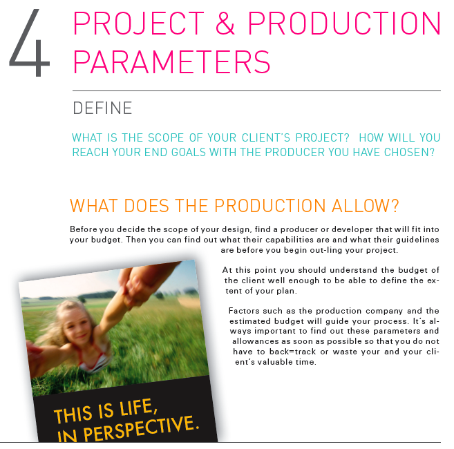 production parameters