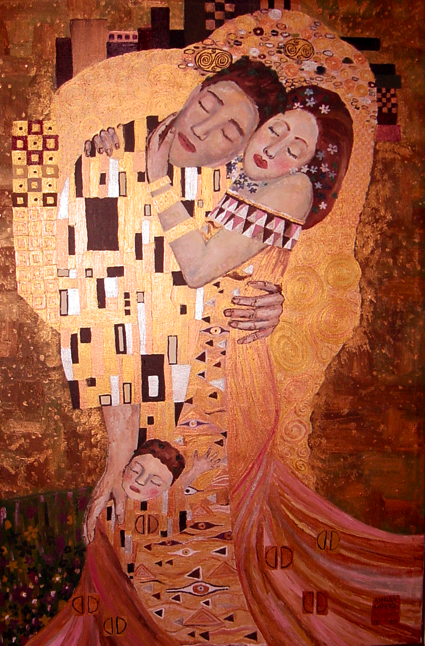 An emulation of Gustav Klimt