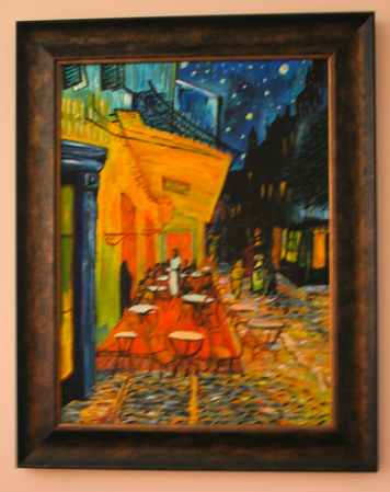 A copy of Van Gogh's Cafe Terrace at Night